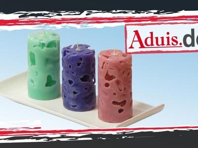 Anleitung Kerzen gießen -  Eiswürfelkerzen selber machen