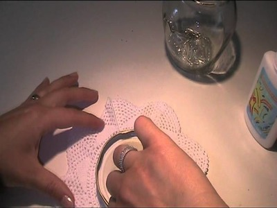 Anleitung und Vorlage - Marmeladenglas mit Häkeldeckchen verschönern