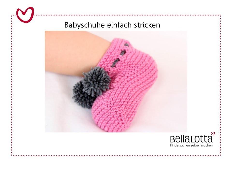 Babyschuhe einfach stricken - Stricken für Anfänger