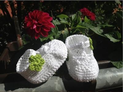 Babyschuhe mit Riemchen häkeln - Anleitung Babysandalette by BerlinCrochet - Teil 1, Sohle