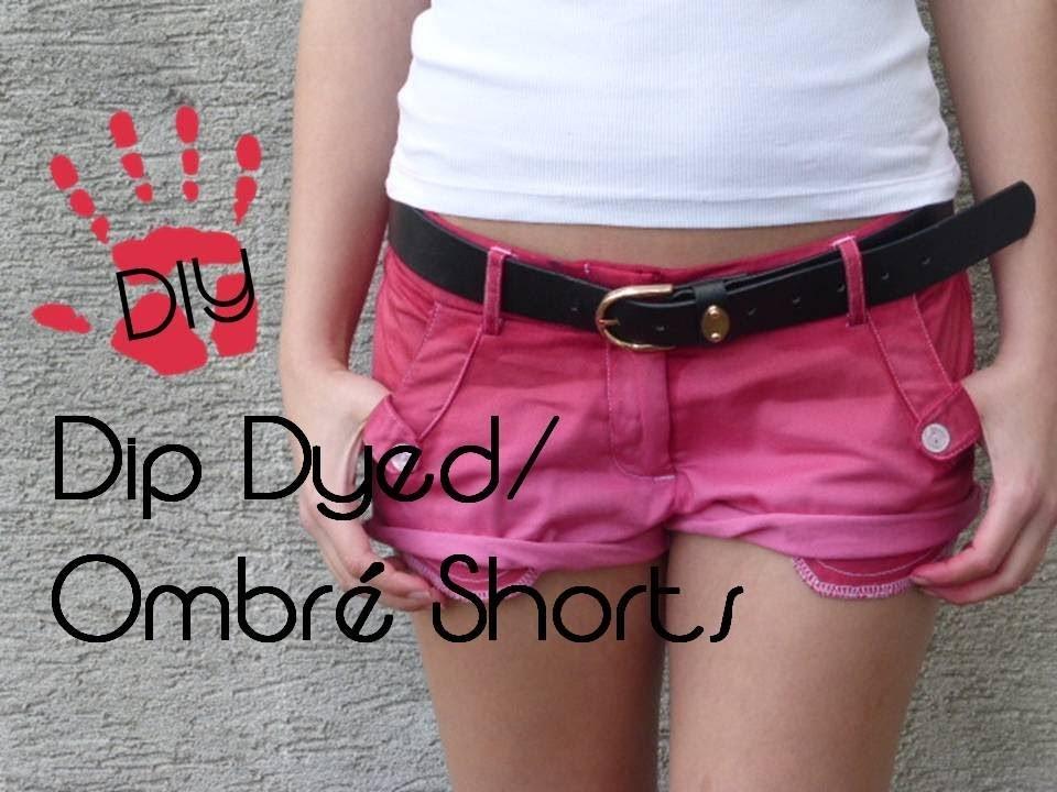 DIY Ombré.Dip Dyed Shorts - Aus alt mach neu!