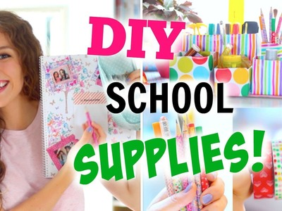 DIY SCHOOL SUPPLIES ♡ BACK TO SCHOOL! College-Blöcke|süße Stifte + Organizer |BarbieLovesLipsticks