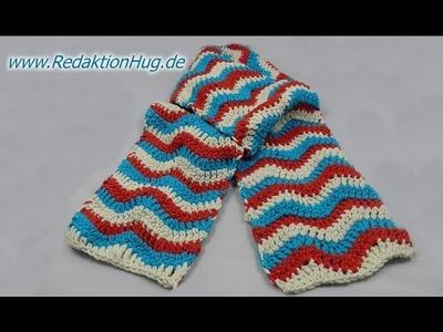 Häkeln - Linkshänder - Schal im Zackenmuster aus hatnut XL 55 von Pro Lana
