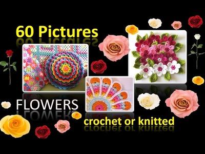 Häkeln Stricken Blumen - 60 Bilder von schicken Blumen - gehäkelt oder gestrickt