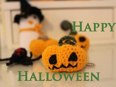 Halloween Kürbisanhänger Häkelanleitung