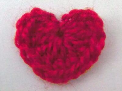 Herz Herzen häkeln stricken machen - Linkshänder Häkelanleitung