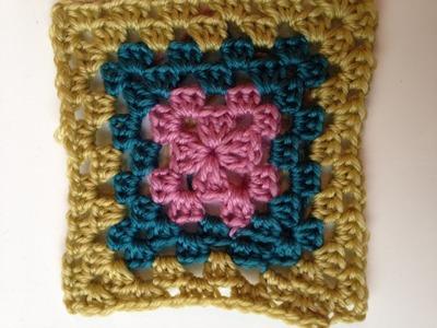 Ihr 35. Quadrat für ihre Patchwork Decke Häkeln das Granny Muster für Anfänger