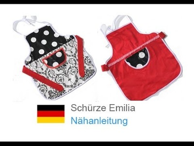 """Kittel. Schürze """"EMILIA"""" nähen - für Nähanfänger - Schnitt & Anleitung auf Zierstoff.de"""