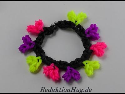 Loom Bands mit Herz ohne Rainbow Loom Anleitung Deutsch A 37 - Veronika Hug