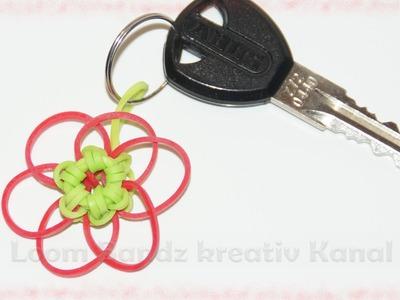 Loom Bandz Blume, Anleitung deutsch