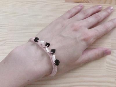 Mit Perlen häkeln - Perlenarmband Häkelanleitung