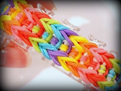 Rainbow Loom Monster Tail Armband. Arrow Bracelet. Loom Bandz Anleitung (Anleitung deutsch)
