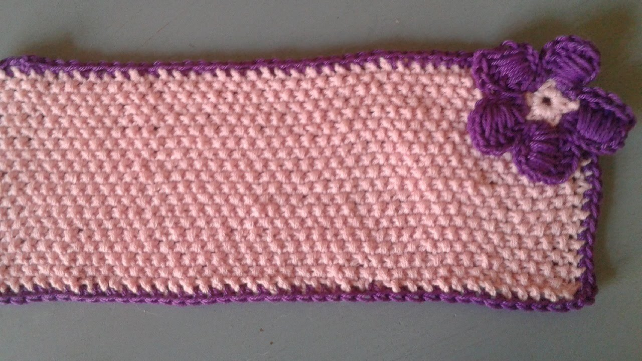 Schal im Perlmuster stricken - Anleitung