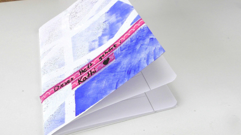 Schulheft verschönern. Schutzhülle für Heft ganz einfach selber machen. eigene Hefthülle. DIY