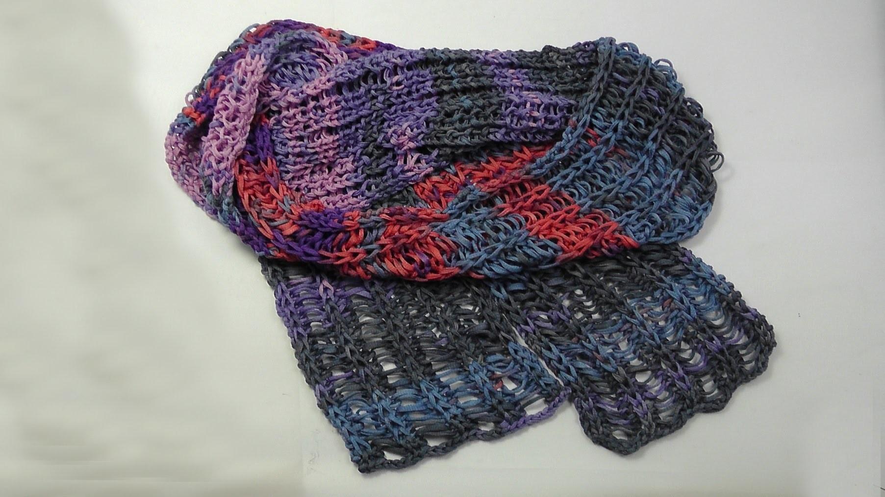 Stricken - Schal NEAPEL Fallmaschen - Woolly Hugs 09 - Veronika Hug