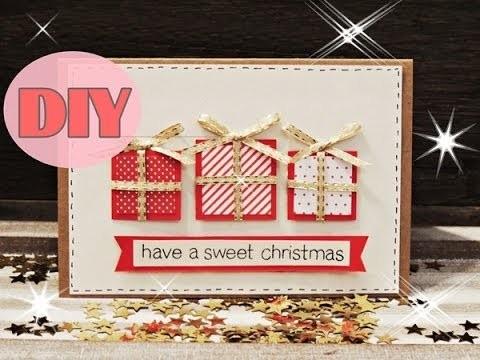 Weihnachtskarten selber basteln #5 - Weihnachtsgeschenke - Christmas Card DIY
