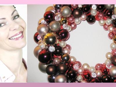 Adventskranz aus Glaskugeln selber machen u. dekorieren - DIY - weihnachtliche Dekoration