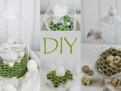 DIY - Dekoglocke aus Hühner- oder Hasendraht.Frühlings- und Osterdeko im Shabby Chic Stil