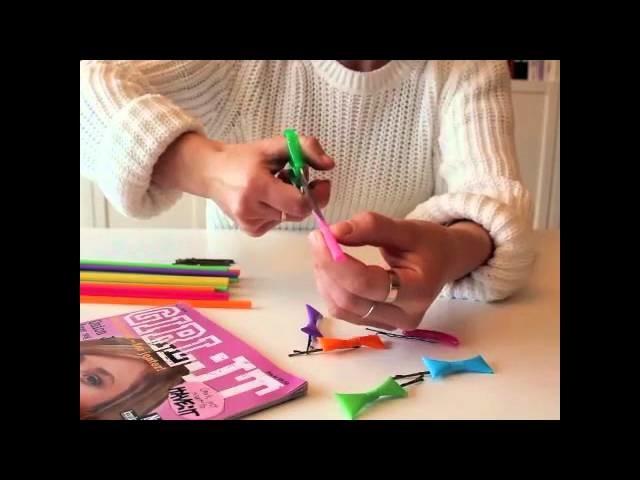 DIY mit GIRL:IT: lustige Haarklammern mit Schleifen