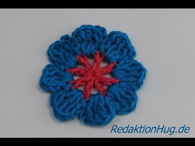 Häkeln - Blume Häkelblume einfach - Veronika Hug