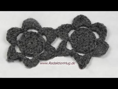 Häkeln - Blüten - Häkelblumen für Schal aus Teramo von Prolana einfach