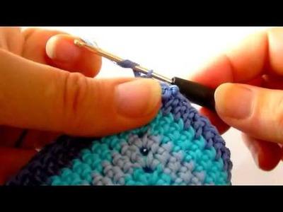 Häkelteppich fürs Badezimmer - crochet a carpet - Zusammenhäkeln 2er Häkelquadrate.