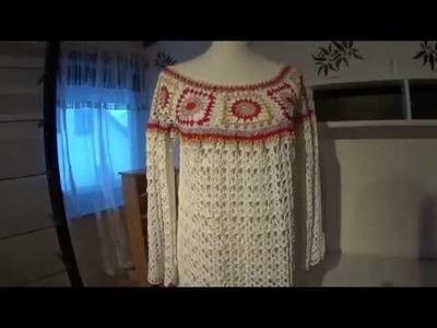 Hippie Häkelkleid - Wie ich das gehäkelt habe