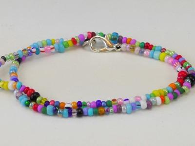 Perlenarmband DIY. Pearl Bracelet Armband aus Perlen selber machen. Perlen Ideen | deutsch