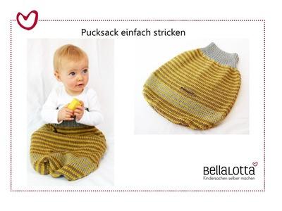 Pucksack einfach stricken - für Anfänger