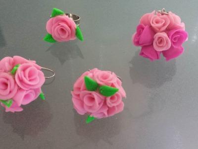 Rosen Ohrring Selber machen aus Fimo!