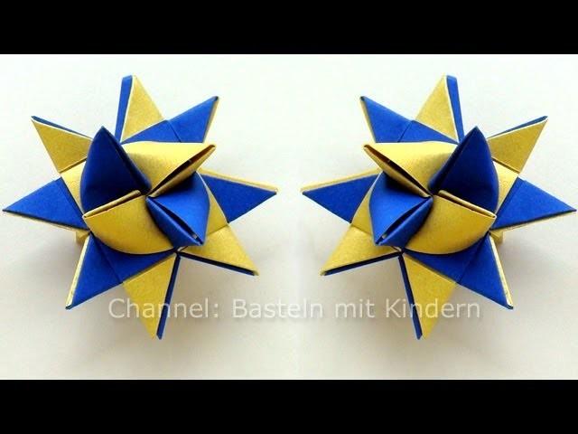 Sterne basteln: Fröbelstern - Basteln Weihnachten
