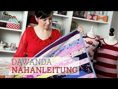 DaWanda Nähanleitung: Patchworkdecke aus Jelly Rolls