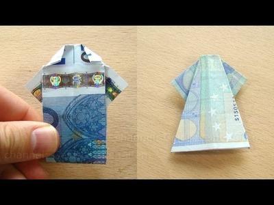 Geldgeschenke falten: Hemd und Kleid