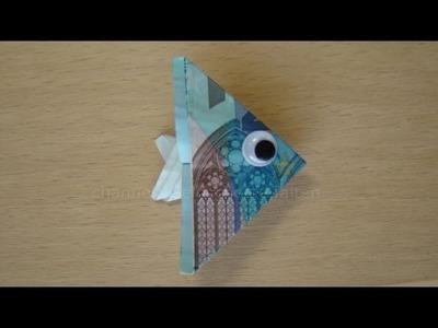 Geldscheine falten Fisch