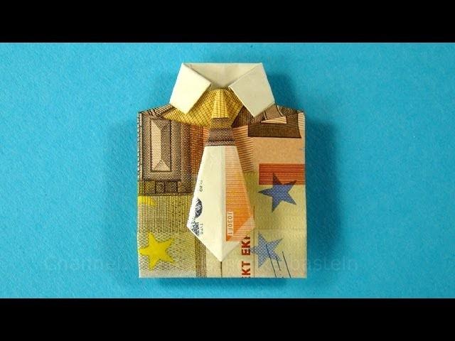 Geldscheine falten für Geldgeschenke: Hemd & Krawatte