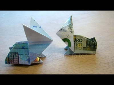 Geldscheine falten Hasen - Geldgeschenke basteln
