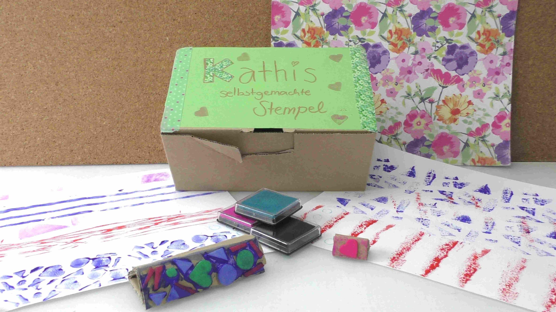 7 Arten, Stempel selber zu machen. Musterpapier selber machen. mit Sachen die man zu Hause hat