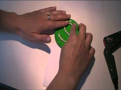 Anleitung - Stempel aus Kordelband basteln