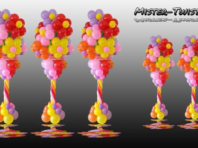 Balloon Flower Column, Vase, Decoration, Ballon Blume, Blumenvase, Säule, Dekoration