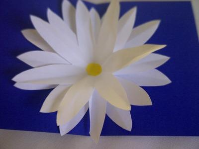 Basteln lernen. Blumen Pop-Up Karte.  Bastelidee für Muttertag, Vatertag oder Geburtstag