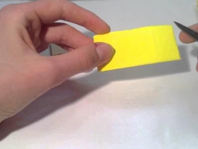 Basteln: Stempel herstellen mit Moosgummi
