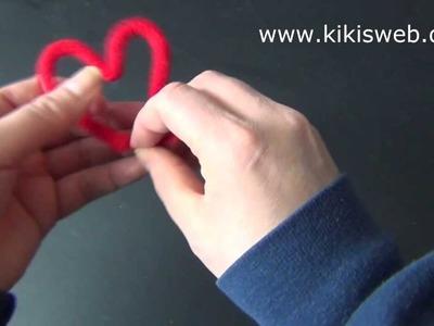 Basteln: Strickliesel Herz