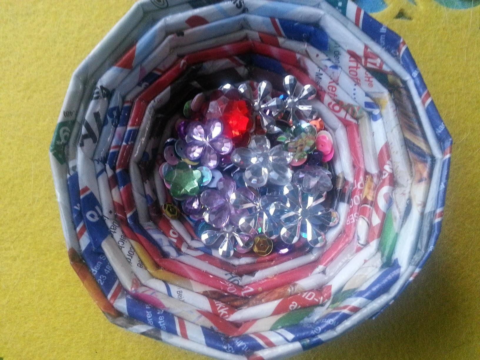 Basteltipp - Papierkörbchen aus Werbeprospekten - ganz easy