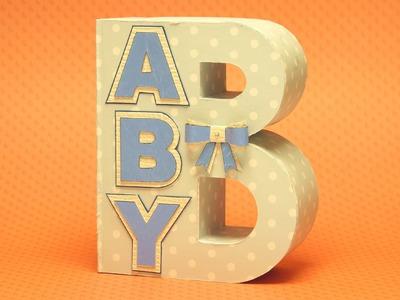 DIY Anleitung: Geschenk zur Geburt, Taufe.  BABY Geschenkschachtel für Geburtsgeschenke basteln