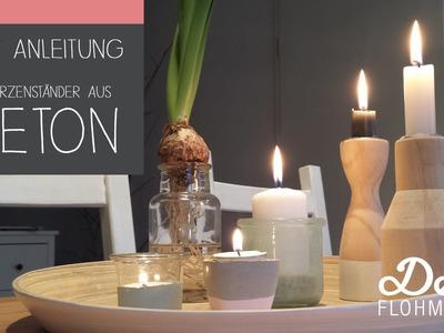 DIY Anleitung. Kerzenständer aus Beton basteln
