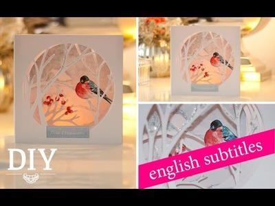 DIY: hübsche Weihnachtskarte selber machen. DIY: Christmas Card