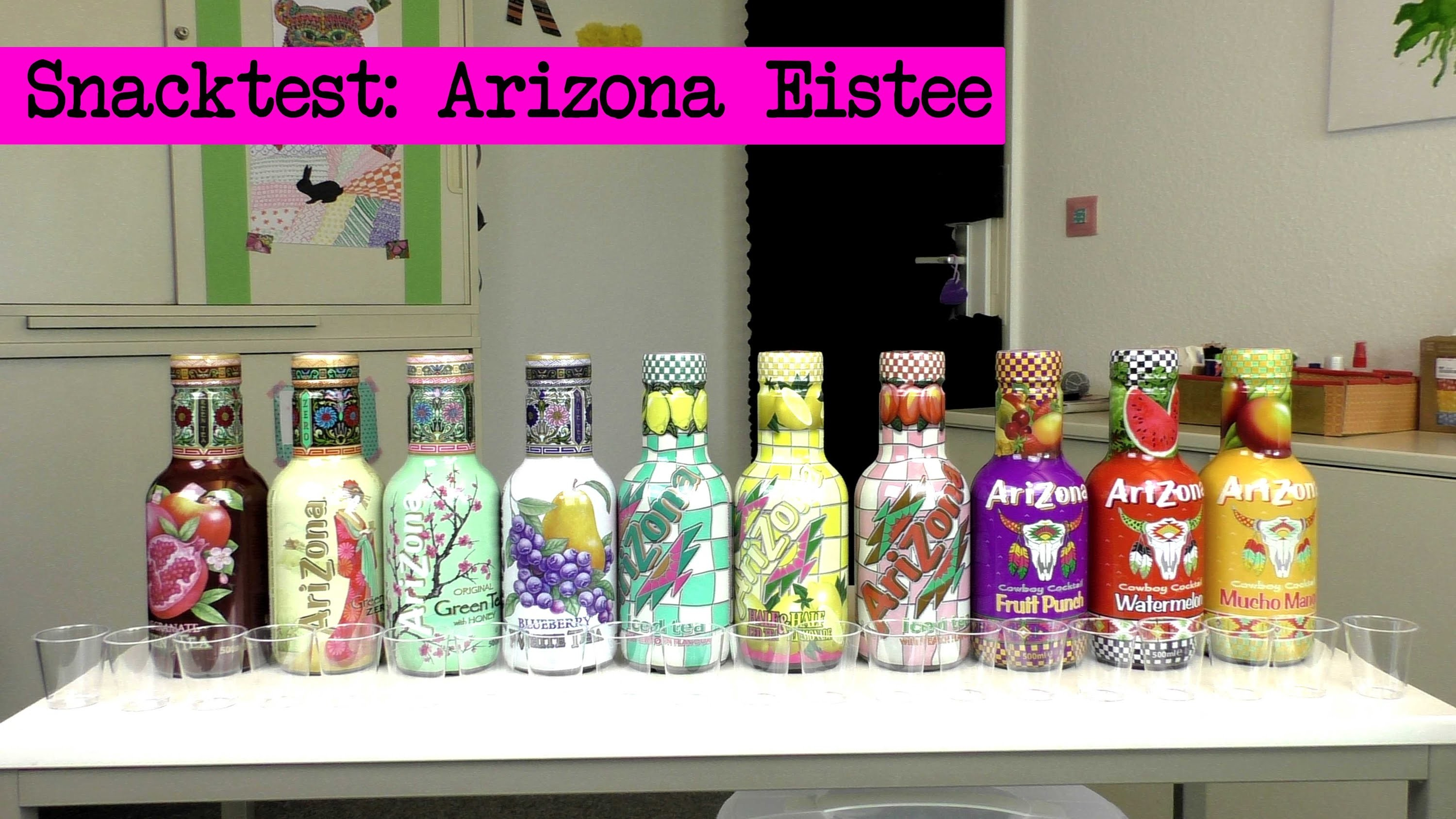 DIY Inspiration Snacktest: Arizona Eistee - Arizona Iced Tea Review - Eva & Kathi testen alle Sorten