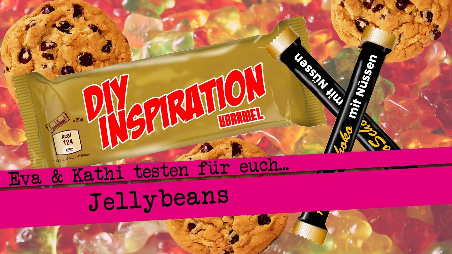 DIY Inspiration testet: Jelly Beans. Eva und Kathi testen Süßigkeiten. Knabbereien. Food Haul
