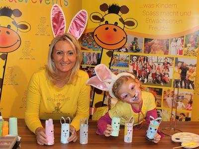 DIY Ostern Hasen aus Klorollen, Recycling Basteln mit Kindern