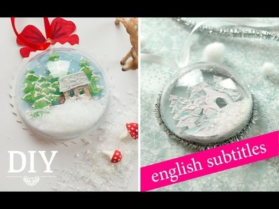 DIY: Schneekugel Geschenkanhänger. How to make a snow globe as gift tag | Deko Kitchen